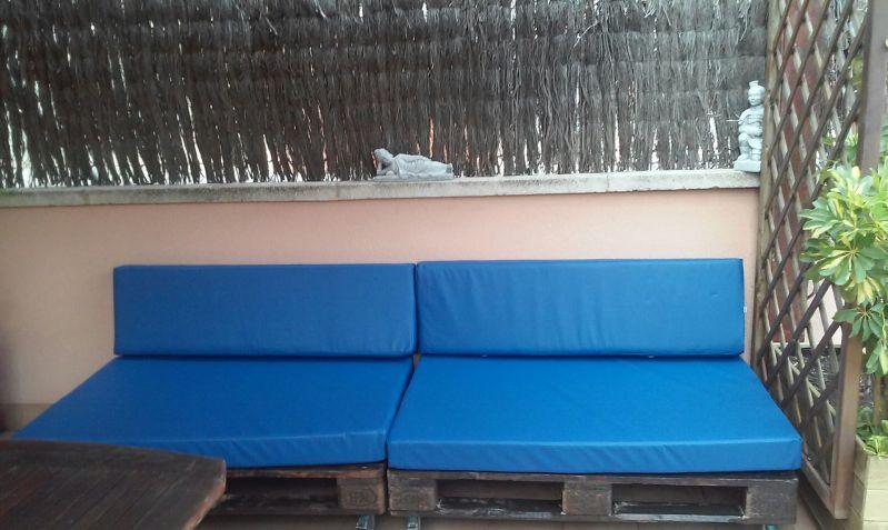 Colchoneta en polipiel nautico de exterior en terraza